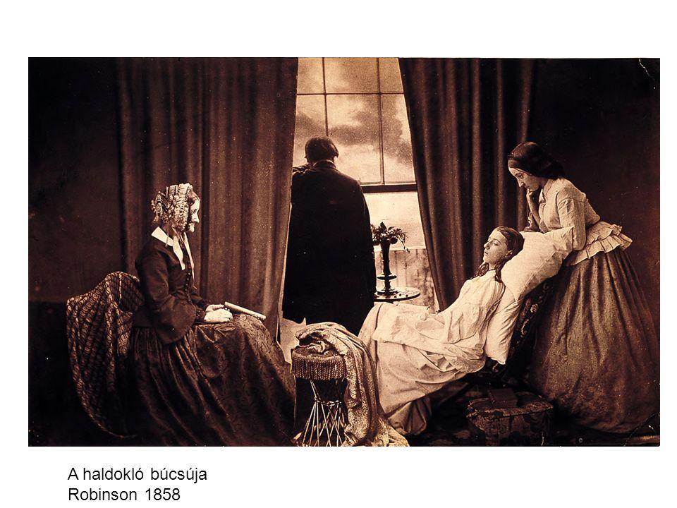 A haldokló búcsúja Robinson 1858