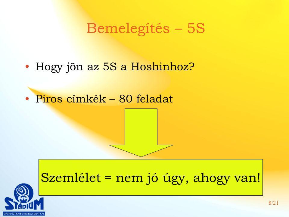 8/21 Bemelegítés – 5S Hogy jön az 5S a Hoshinhoz.