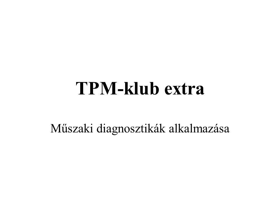 TPM-klub extra Műszaki diagnosztikák alkalmazása