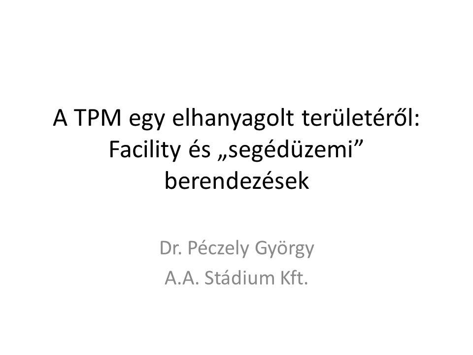 """A TPM egy elhanyagolt területéről: Facility és """"segédüzemi"""" berendezések Dr. Péczely György A.A. Stádium Kft."""