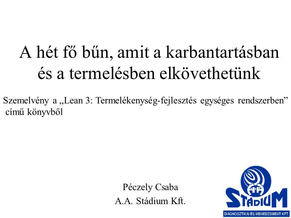 A hét fő bűn, amit a karbantartásban és a termelésben elkövethetünk Péczely Csaba A.A.