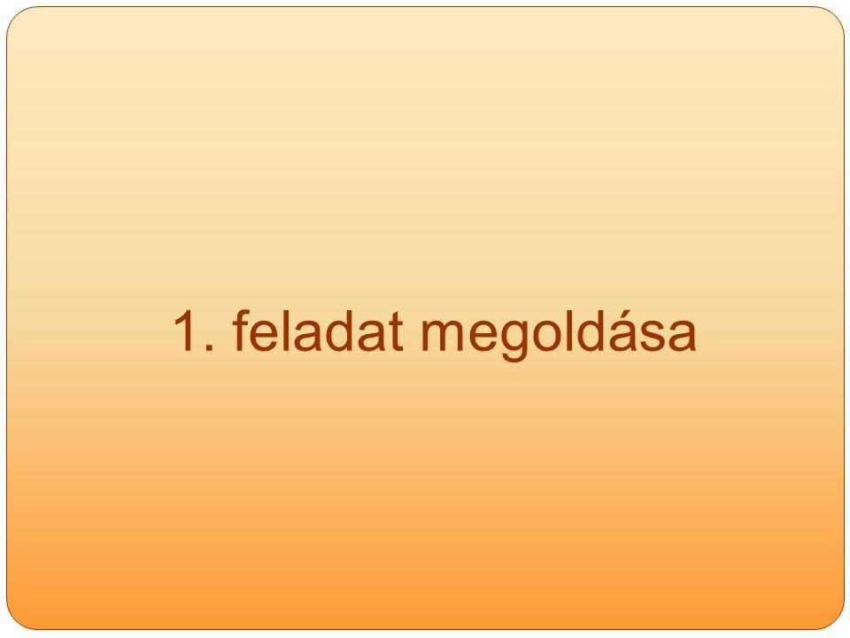 1. feladat megoldása