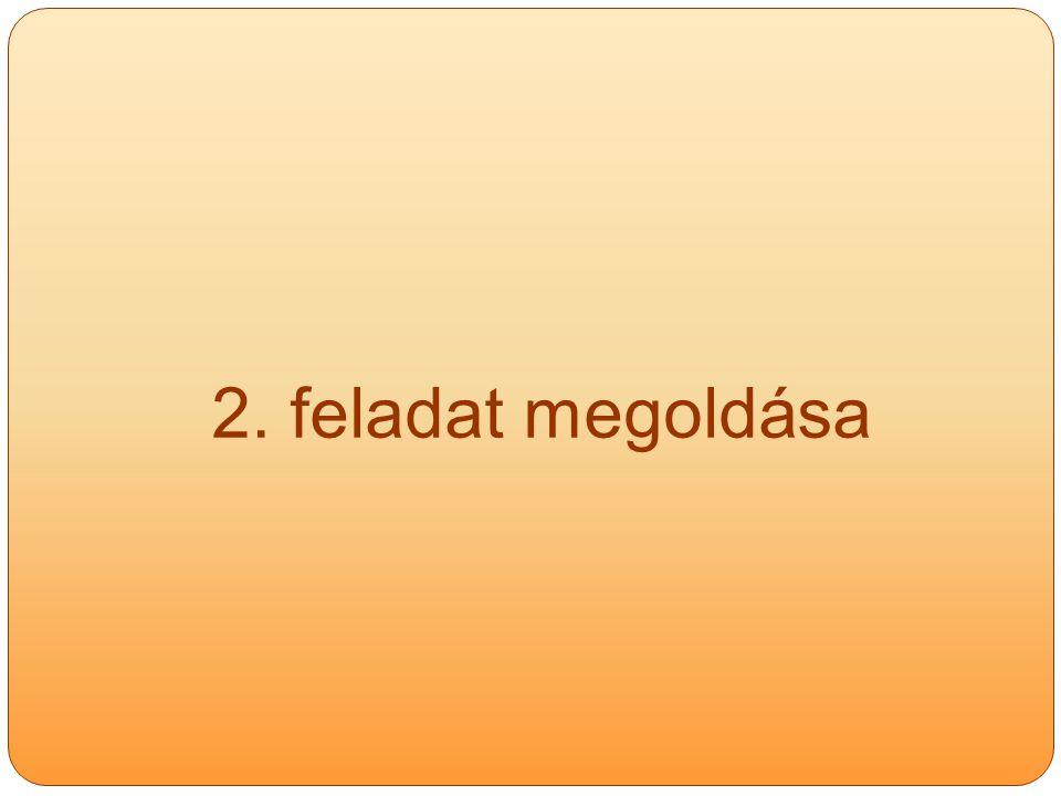 2. feladat megoldása