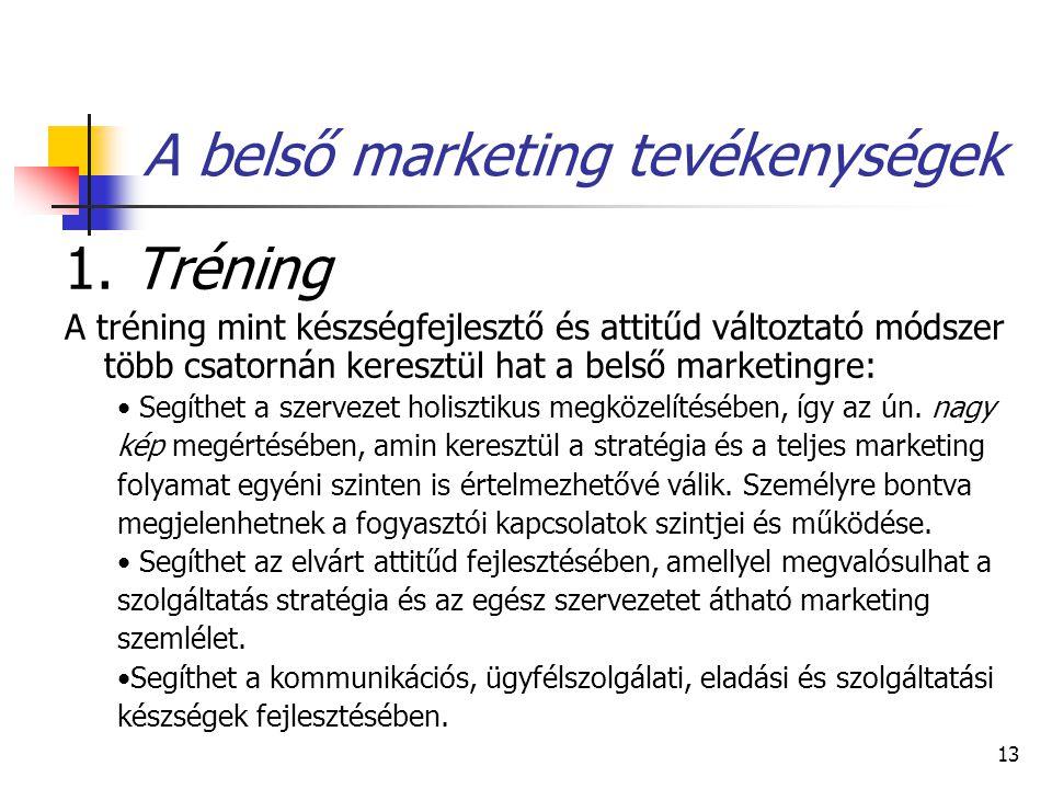 13 A belső marketing tevékenységek 1.