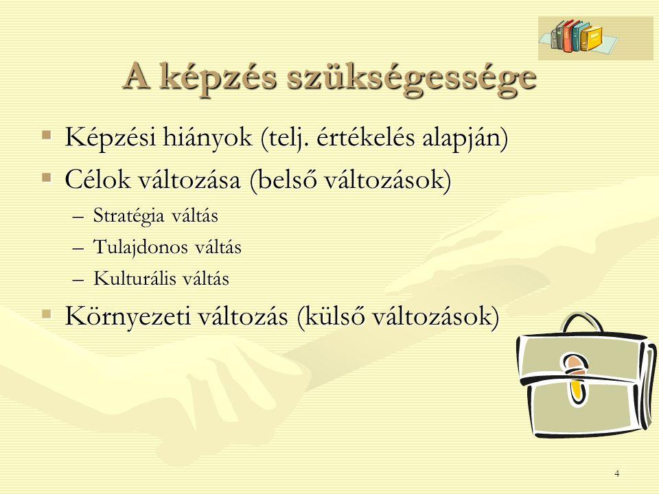 15 Egyéni problémák kezelése Teljesítmény problémák megjelenése Okok azonosítása: pl.