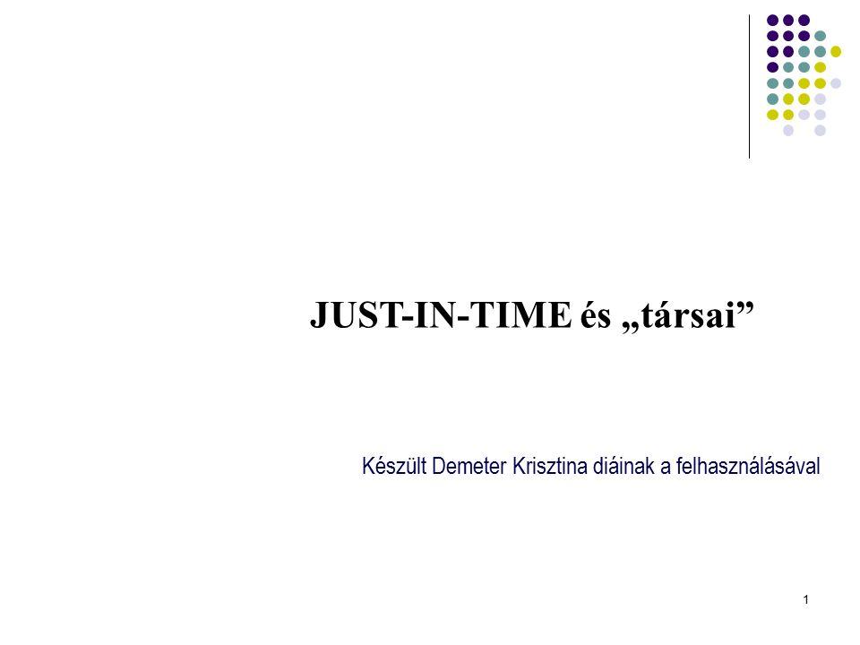"""1 Készült Demeter Krisztina diáinak a felhasználásával JUST-IN-TIME és """"társai"""""""