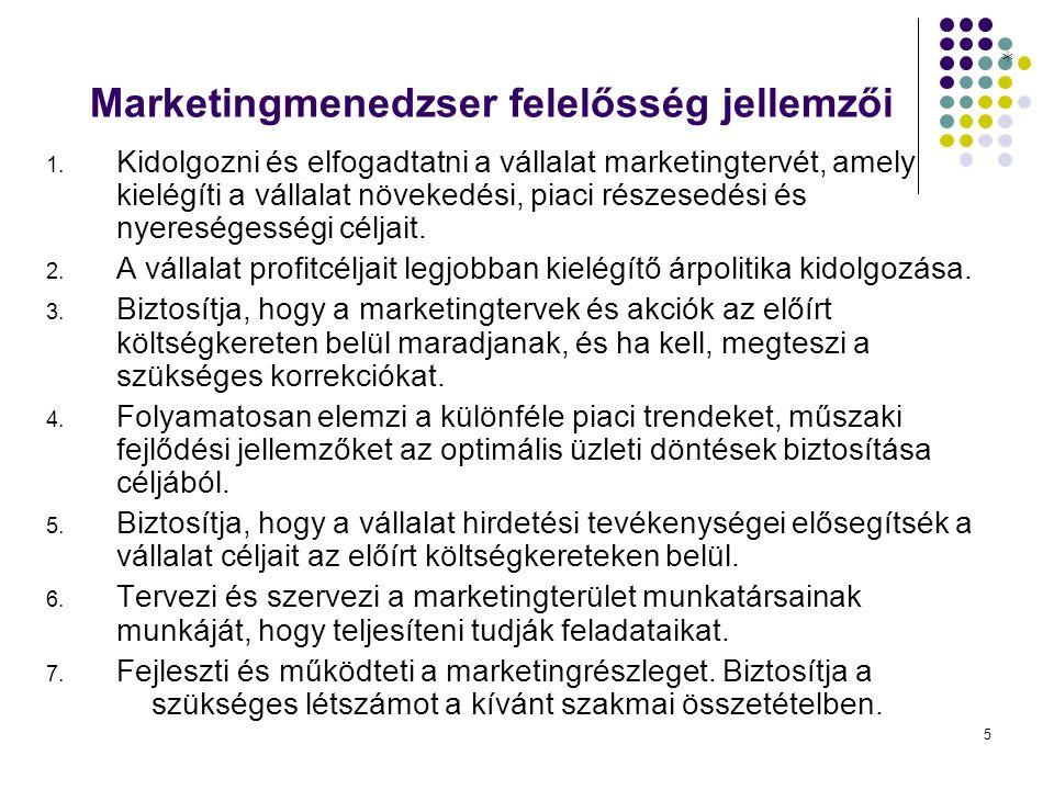 5 Marketingmenedzser felelősség jellemzői 1.