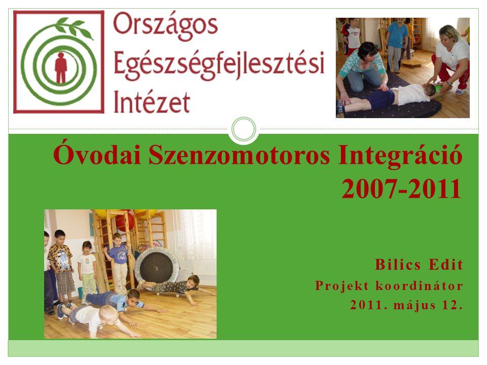 Bilics Edit Projekt koordinátor 2011. május 12. Óvodai Szenzomotoros Integráció 2007-2011