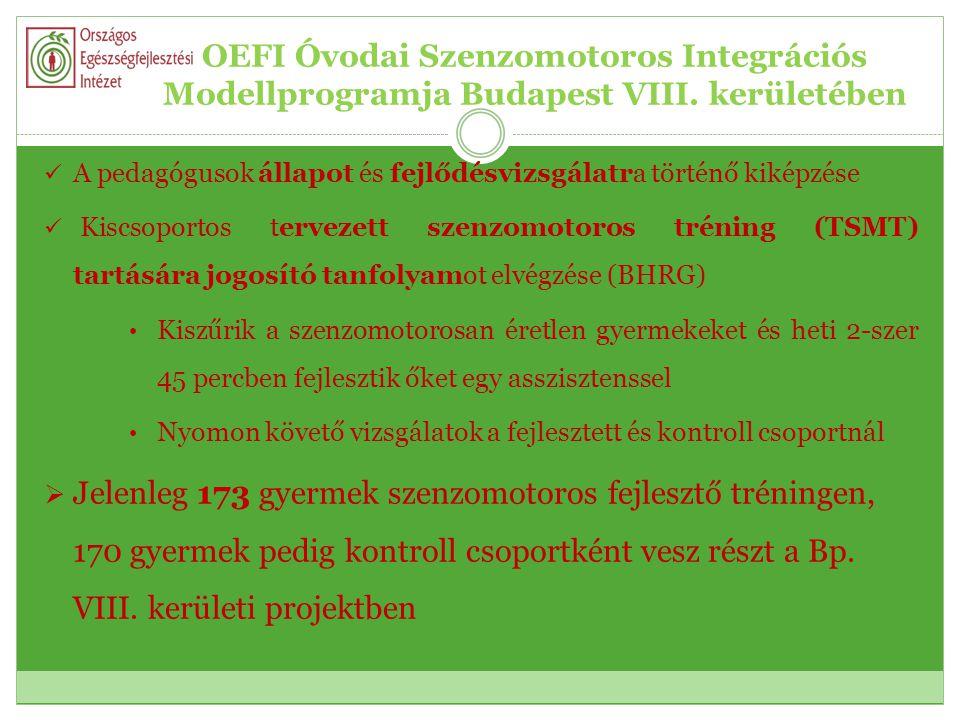OEFI Óvodai Szenzomotoros Integrációs Modellprogramja Budapest VIII.