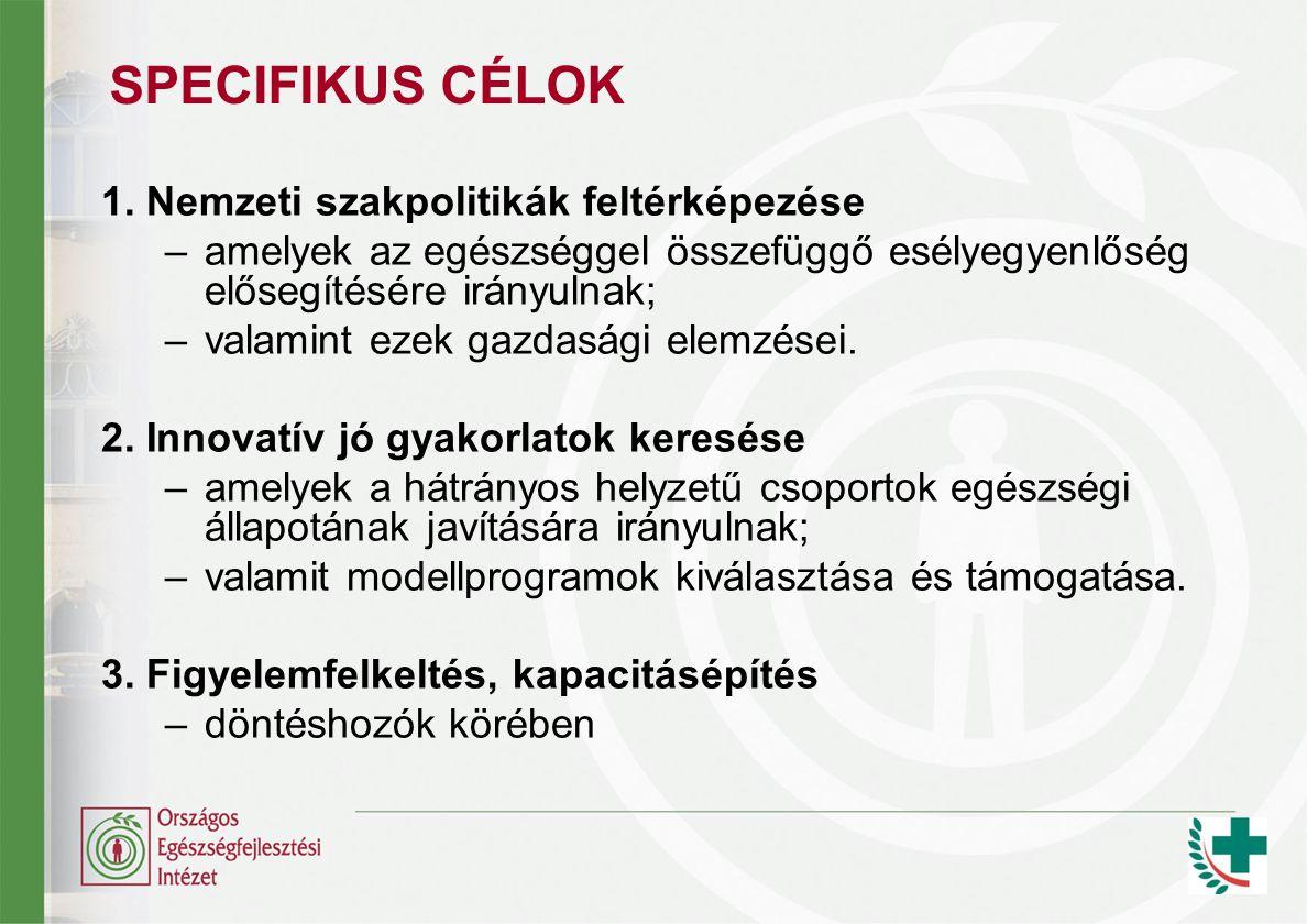 SPECIFIKUS CÉLOK 1.