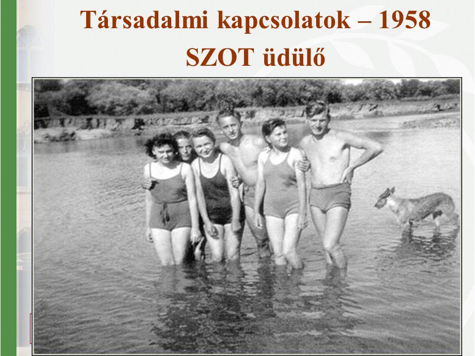 Társadalmi kapcsolatok – 1958 SZOT üdülő