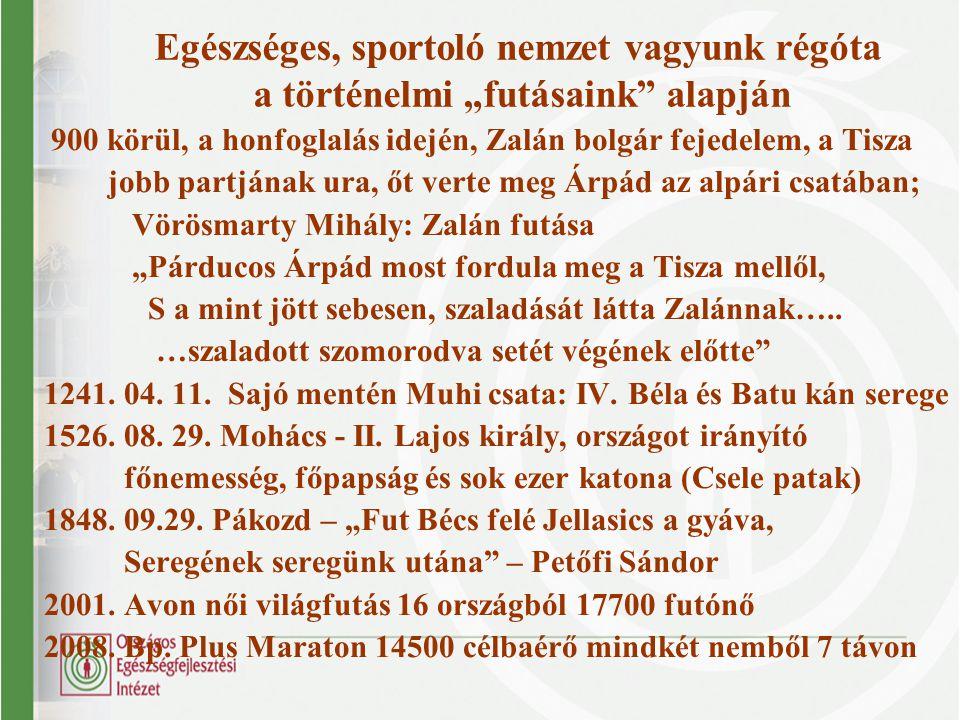 """Egészséges, sportoló nemzet vagyunk régóta a történelmi """"futásaink"""" alapján 900 körül, a honfoglalás idején, Zalán bolgár fejedelem, a Tisza jobb part"""