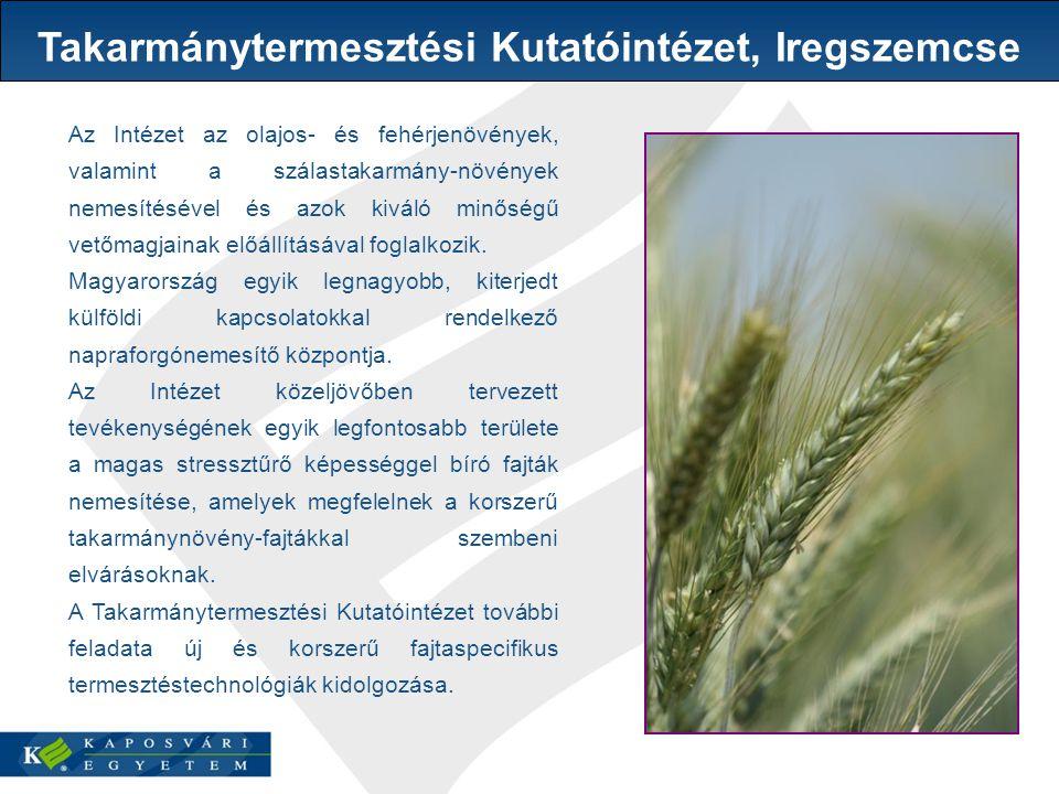 Az Intézet az olajos- és fehérjenövények, valamint a szálastakarmány-növények nemesítésével és azok kiváló minőségű vetőmagjainak előállításával foglalkozik.