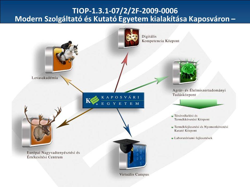 TIOP-1.3.1-07/2/2F-2009-0006 Modern Szolgáltató és Kutató Egyetem kialakítása Kaposváron –