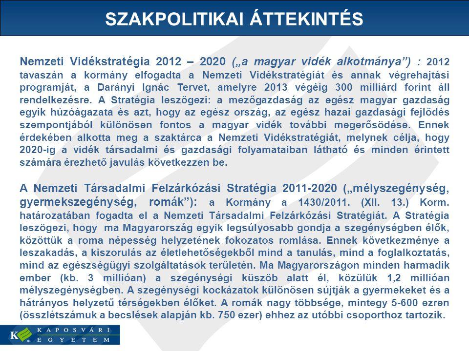 """Nemzeti Vidékstratégia 2012 – 2020 (""""a magyar vidék alkotmánya ) : 2012 tavaszán a kormány elfogadta a Nemzeti Vidékstratégiát és annak végrehajtási programját, a Darányi Ignác Tervet, amelyre 2013 végéig 300 milliárd forint áll rendelkezésre."""