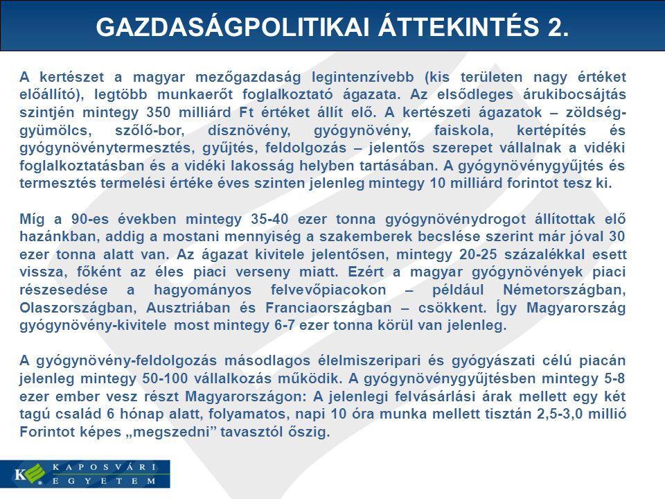 GAZDASÁGPOLITIKAI ÁTTEKINTÉS 2.