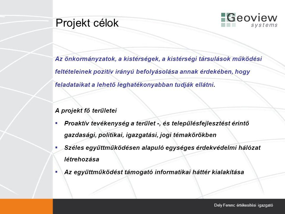 Projekt célok Az önkormányzatok, a kistérségek, a kistérségi társulások működési feltételeinek pozitív irányú befolyásolása annak érdekében, hogy fela