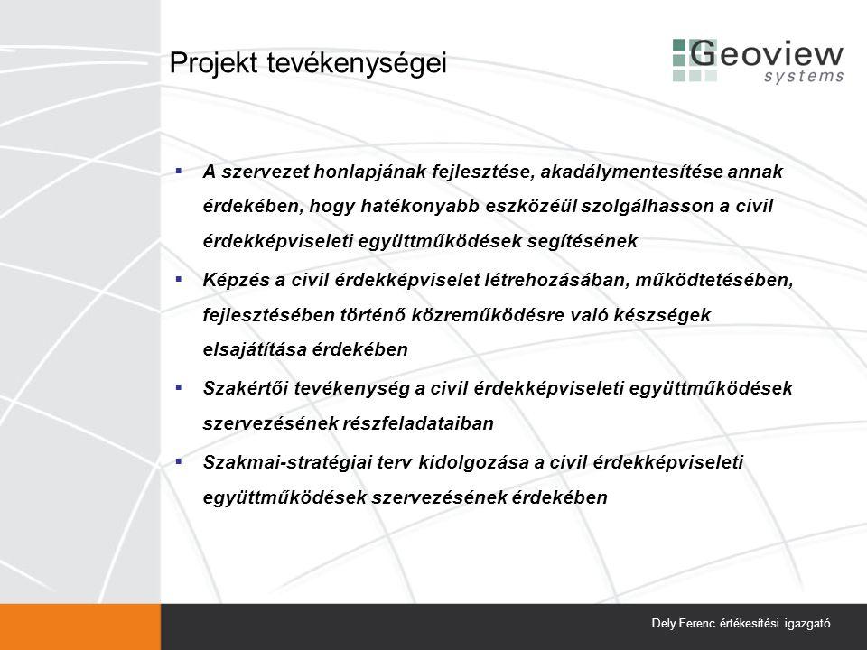 Az érdekérvényesítő program iránya Dely Ferenc értékesítési igazgató