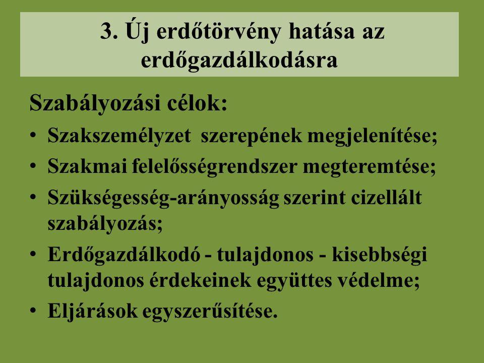 2. Új és módosított jogintézmények Erdő és erdőgazdálkodási tevékenységet szolgáló földterület definíciójának pontosítása. Erdőgazdálkodói nyilvántart