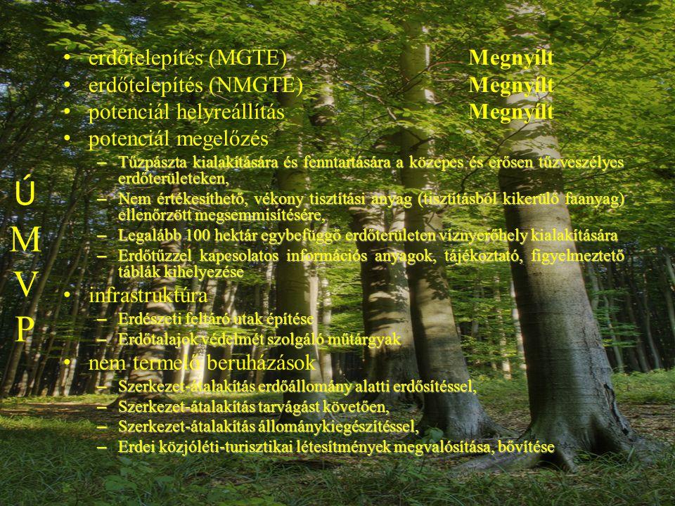 Civil 1% Folyamatos erdőborítás (Erdei túraútvonalak fenntartása) Tájékoztatás az erdőgazdálkodásról (Akadálymentesítés a közjóléti létesítményekben)