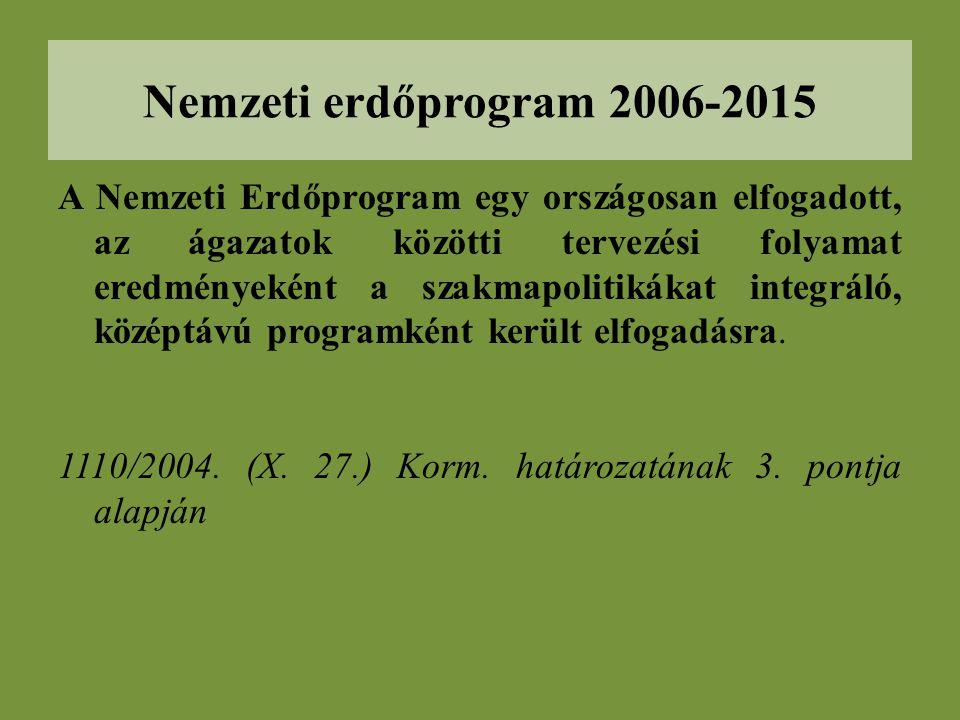 A Nemzeti Erdőprogram egy országosan elfogadott, az ágazatok közötti tervezési folyamat eredményeként a szakmapolitikákat integráló, középtávú programként került elfogadásra.