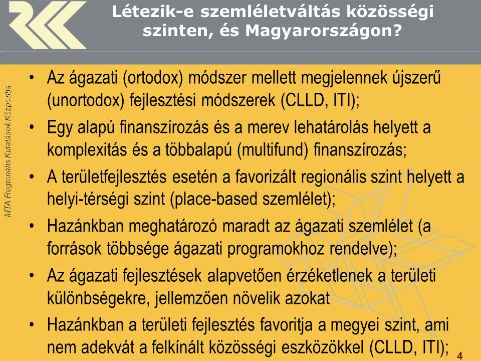 MTA Regionális Kutatások Központja Létezik-e szemléletváltás közösségi szinten, és Magyarországon.