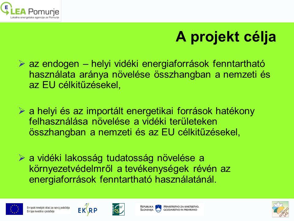 A projekt célja  az endogen – helyi vidéki energiaforrások fenntartható használata aránya növelése összhangban a nemzeti és az EU célkitűzésekel,  a helyi és az importált energetikai források hatékony felhasználása növelése a vidéki területeken összhangban a nemzeti és az EU célkitűzésekel,  a vidéki lakosság tudatosság növelése a környezetvédelmről a tevékenységek révén az energiaforrások fenntartható használatánál.