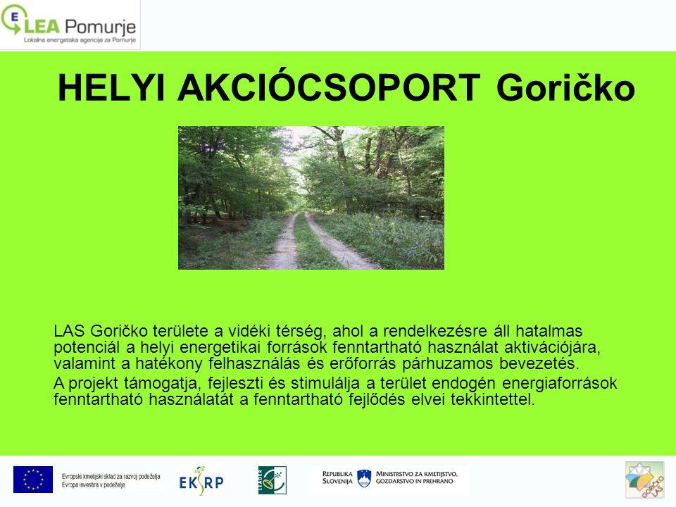 LAS Goričko területe LAS Goričko a következő önkormányzatok területén jött létre: Cankova, Gornji Petrovci, Grad, Hodoš, Kuzma, Moravske Toplice, Puconci, Rogašovci, Šalovci és Tišina azzal a céllal, hogy hatékony köz- és Magánszféra partnerséget hoznak létre a LAS Goricko helyi fejlesztési stratégiák előkészétésére és végrehajtására a LEADER kezdeményezés keretében (4.