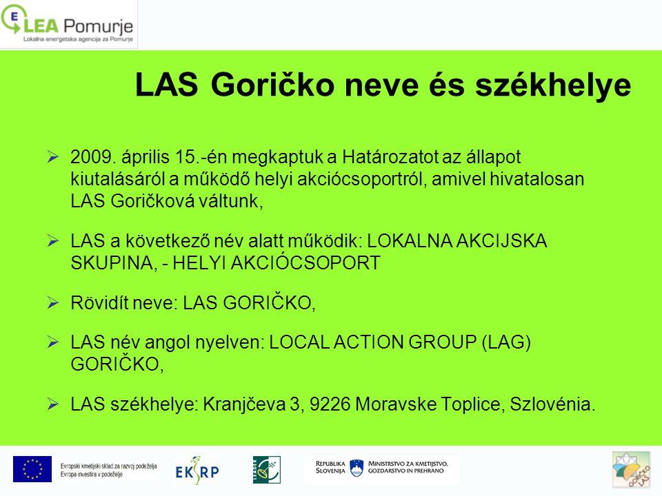 LAS Goričko neve és székhelye  2009.