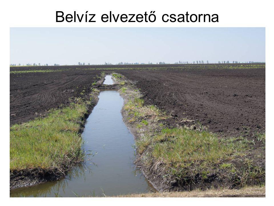 Belvíz elvezető csatorna