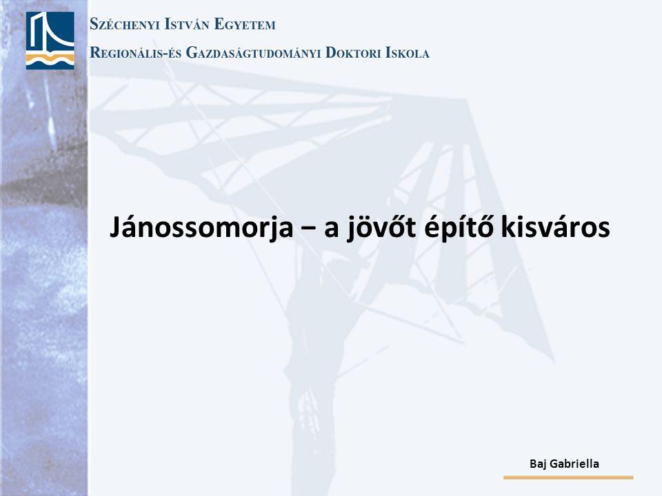 Baj Gabriella Forrás: Jánossomorja város honlapja  Sajátos térszerkezeti egység  Lakossága (2007): 6028  Aktív korú népesség: 67%  Reg.