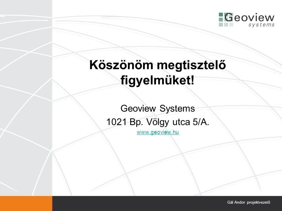 Köszönöm megtisztelő figyelmüket. Geoview Systems 1021 Bp.
