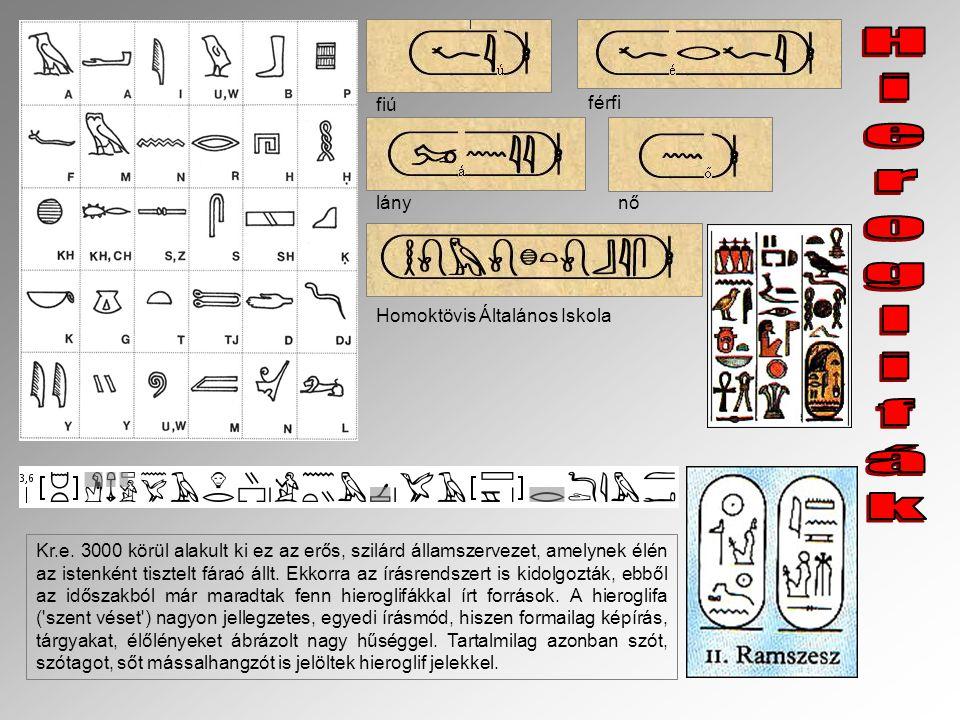 Kr.e. 3000 körül alakult ki ez az erős, szilárd államszervezet, amelynek élén az istenként tisztelt fáraó állt. Ekkorra az írásrendszert is kidolgoztá