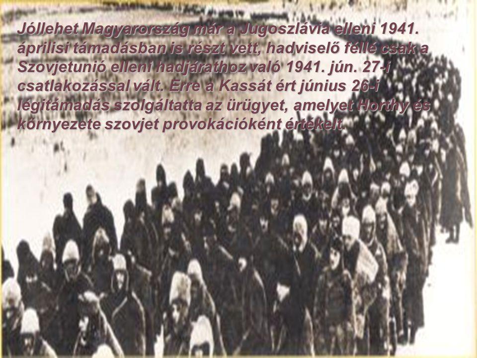 A német vezetés hivatalosan nem kért magyar katonai támogatást, így a döntés elsietettnek tekinthető.