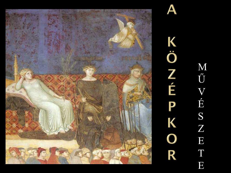 - Bizánci művészet : - A keleti és a görög-római hagyományok a kereszténység szellemével keveredtek, mely szerint a császár az I sten földi képviselője.