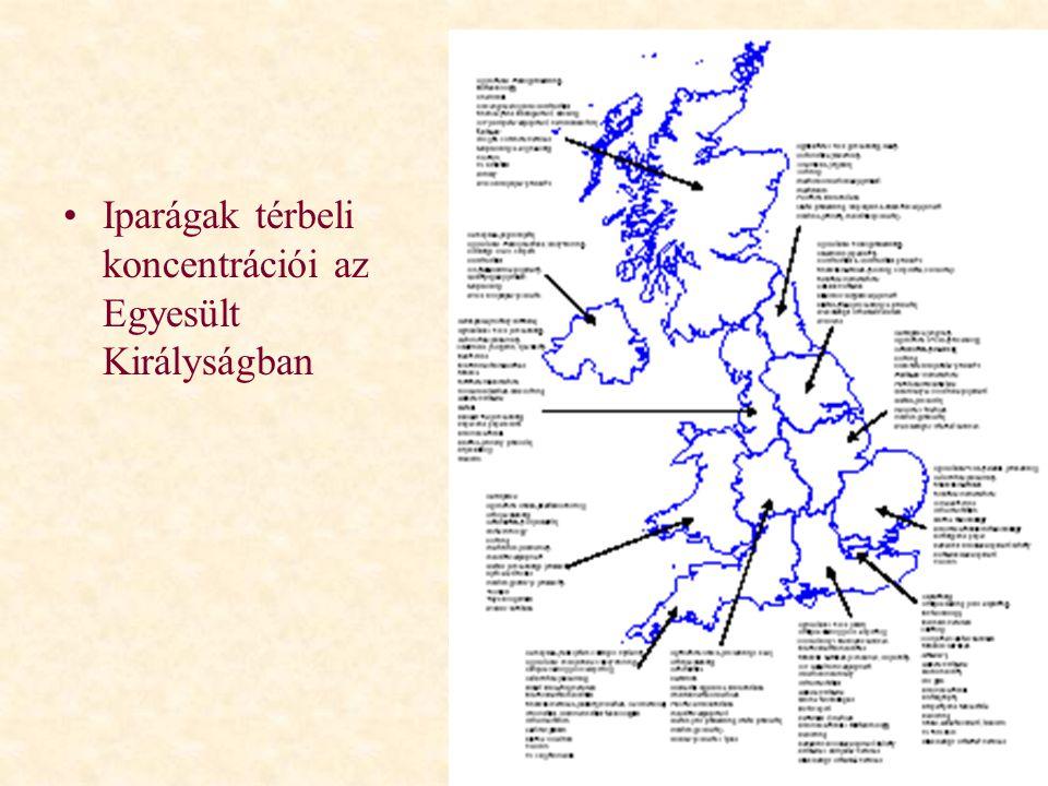 Iparágak térbeli koncentrációi az Egyesült Királyságban