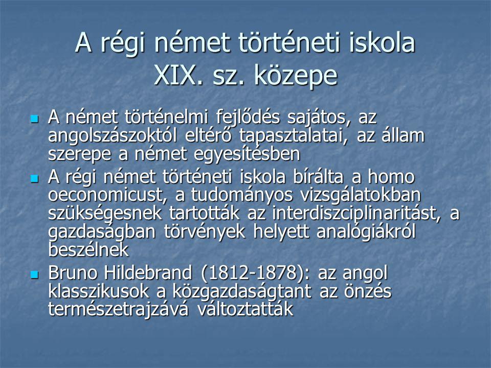 A régi német történeti iskola XIX.sz.