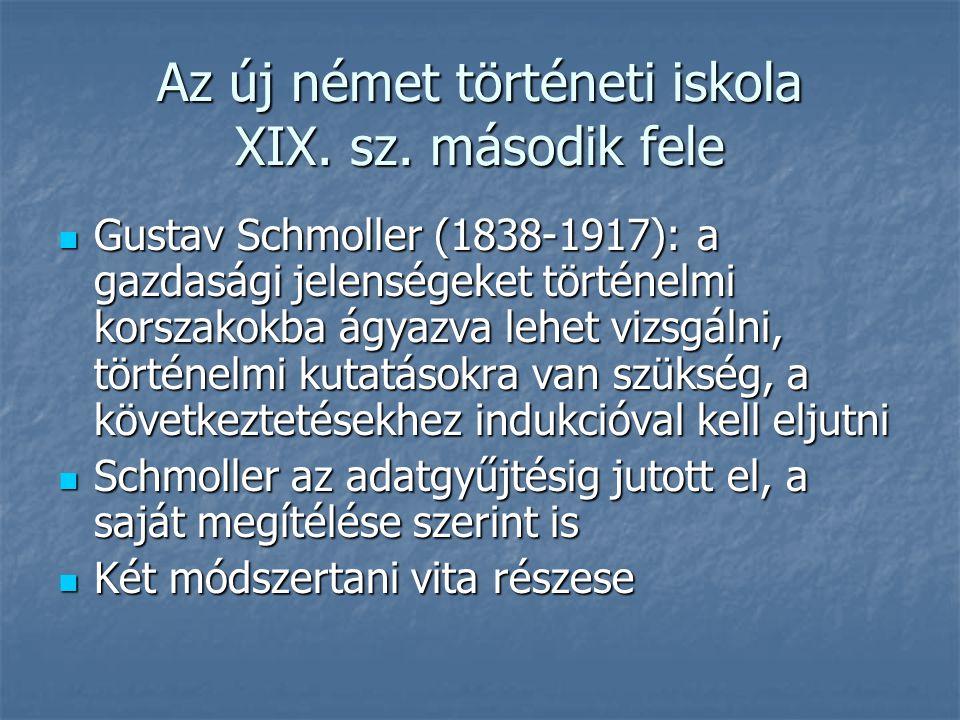 Az új német történeti iskola XIX.sz.