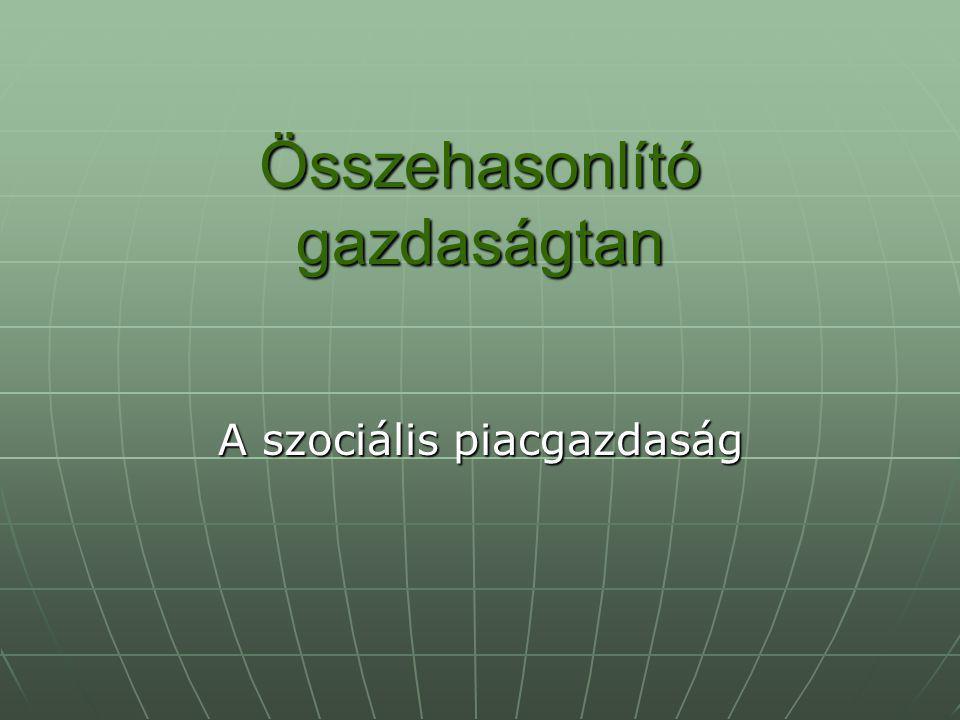 A szociális piacgazdaság mint az EU gazdasági-társadalmi modellje