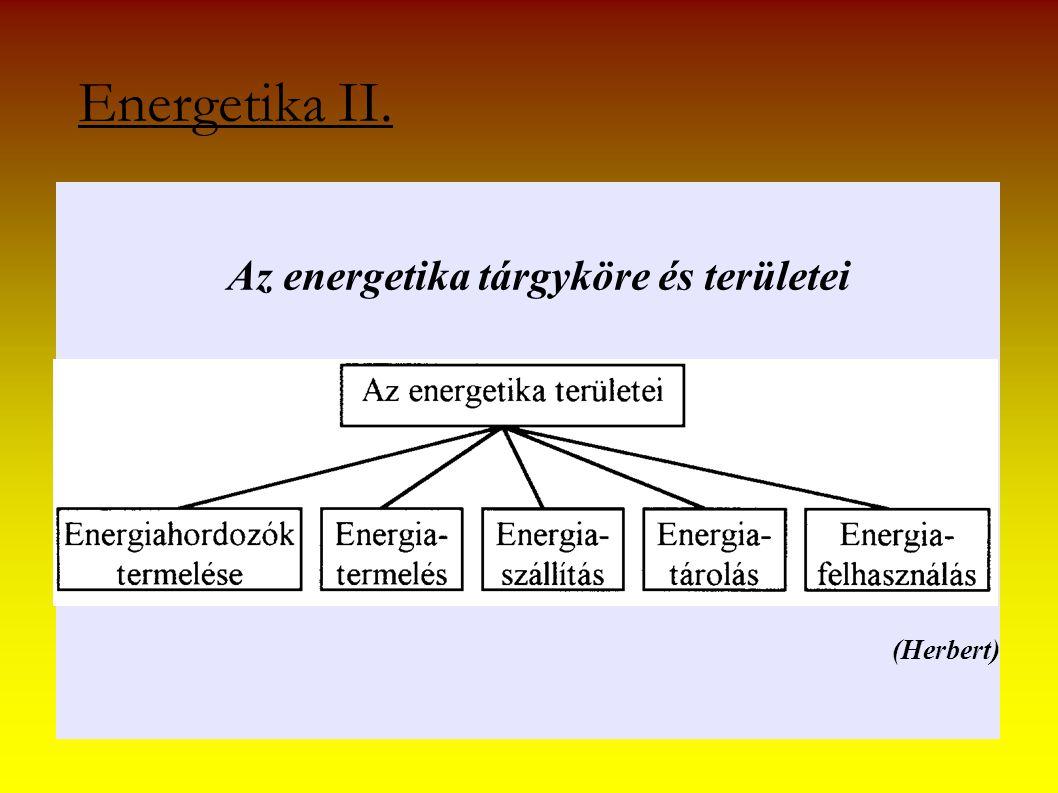 Energetika II. Az energetika tárgyköre és területei (Herbert)