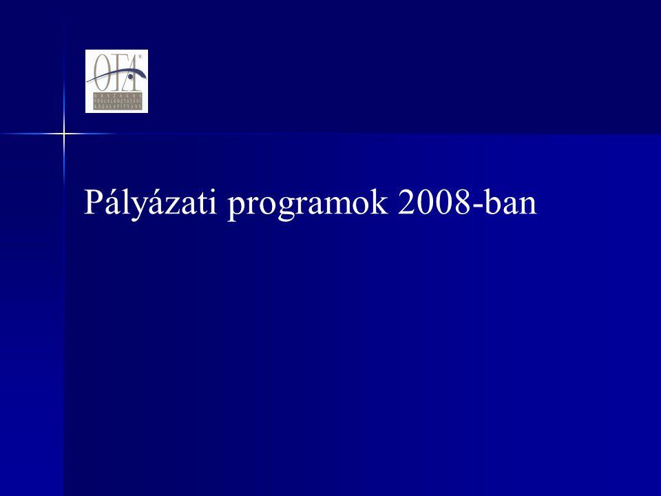 Pályázati programok 2008-ban