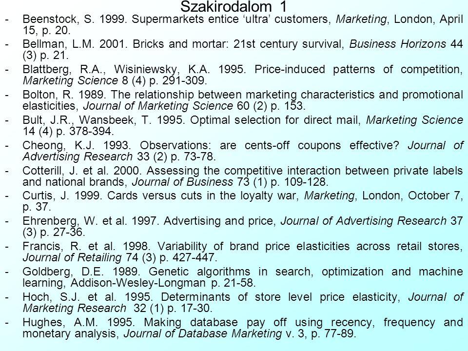 Szakirodalom 1 - Beenstock, S. 1999.