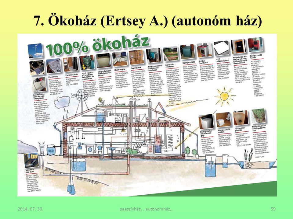 2014. 07. 30.paaszívház,..autonomház,..59 7. Ökoház (Ertsey A.) (autonóm ház)