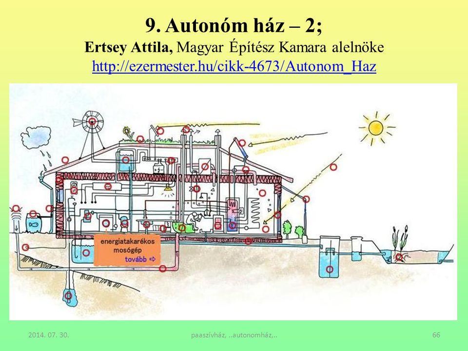 9. Autonóm ház – 2; Ertsey Attila, Magyar Építész Kamara alelnöke http://ezermester.hu/cikk-4673/Autonom_Haz http://ezermester.hu/cikk-4673/Autonom_Ha