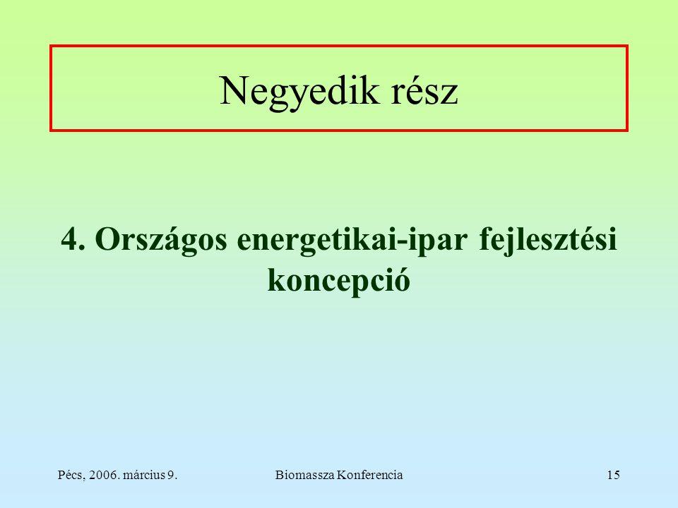Pécs, 2006. március 9.Biomassza Konferencia15 Negyedik rész 4.