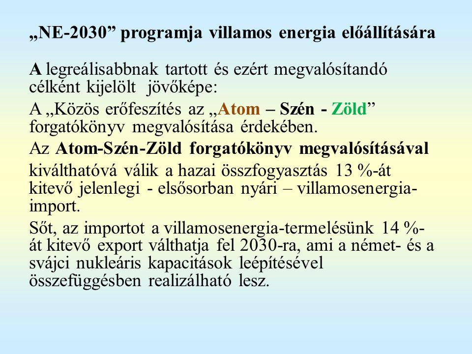 Atom-Szén-Zöld részletesen - az atomenergia hosszú távú fenntartása az energiamixben; - a szén alapú energiatermelés szinten tartása két okból: (i) energetikai krízishelyzetben (pl.