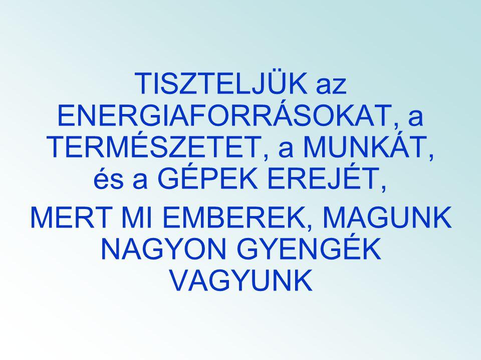 ÖSSZETETT (KAPCSOLT) ENERGIA SZOLGÁLTATÓ BERENDEZÉSEK