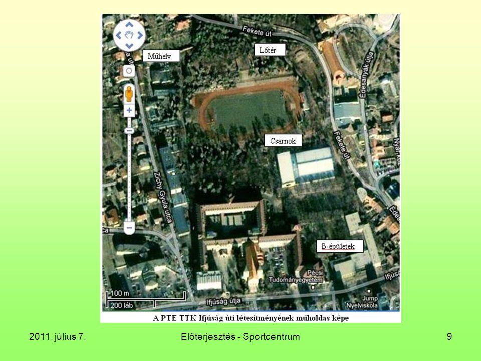 2011. július 7.Előterjesztés - Sportcentrum9