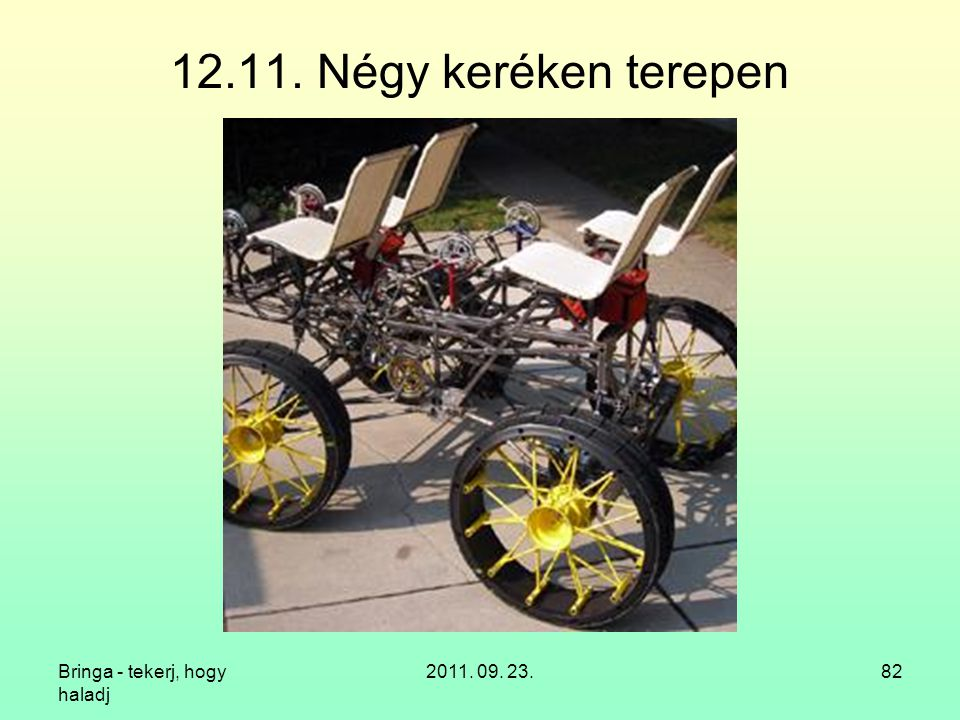 Bringa - tekerj, hogy haladj 2011. 09. 23.82 12.11. Négy keréken terepen