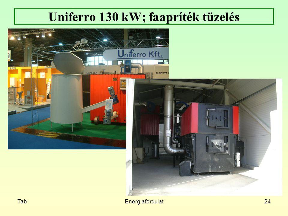 TabEnergiafordulat24 Uniferro 130 kW; faapríték tüzelés